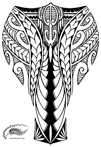 Warrior Shin Polynesian Style Tattoo Design Polystyle 67 12in