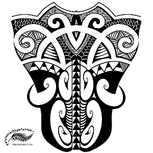 Maori Inspired Polynesian Style Tattoo Design. (Polystyle-7-11in.) *Digital)