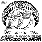 Humpback Whale Polynesian Style Half Sleeve Tattoo Design (Polystyle-71-13in.) *Digital)