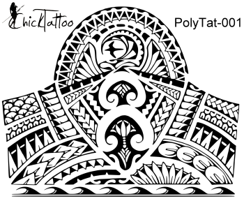 Polynesian 1/2 Sleeve Tattoo Design by ChickTattoo