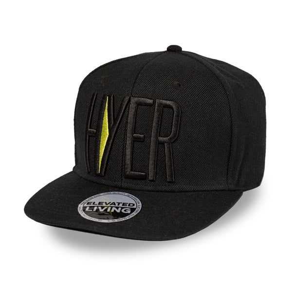 HYER Team Black Snapback Hat