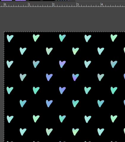 Teal/Blue Mini Hearts