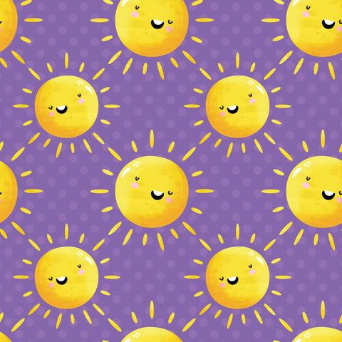 smiling yellow suns