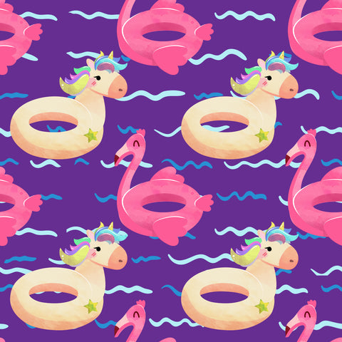 unicorns and flamingo pool floats