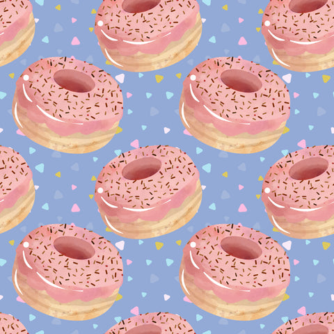 Pink donuts purple background