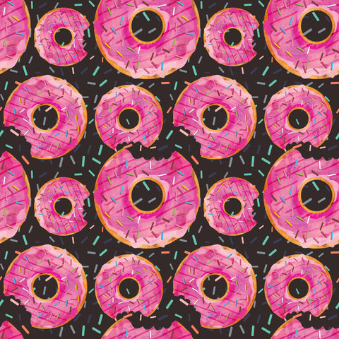 pink donuts on brown
