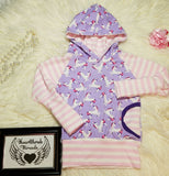 Grow with me unicorn hoodie 9m-3t * Girls hooded sweatshirt * Unicorn hoodie * Shirt with Unicorns * Girly Hoodie * Clothes for Girl