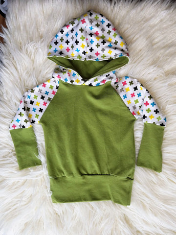 3m to 9m Grow with Me lightweight Hooded Sweatshirt