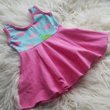 Girls Dress * 3T Dress * Flamingo Dress *Toddler Dress * Summer Outfit * Sleeveless Dress * Play Dress * Tunic Dress * Girly Clothes