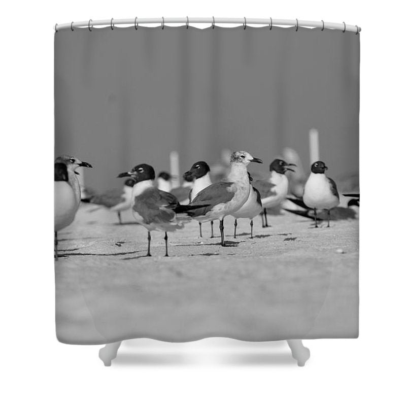 Day at The Beach - Shower Curtain