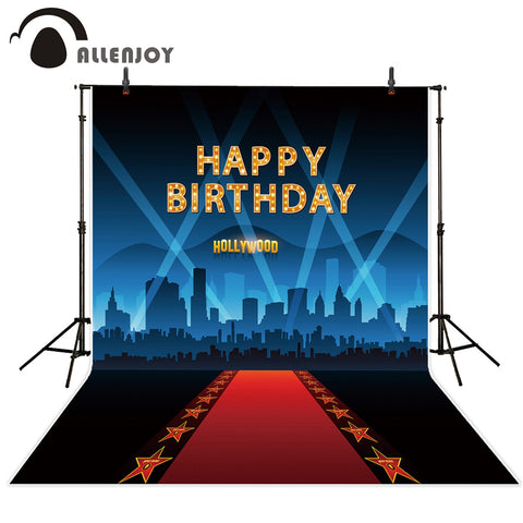 Allenjoy birthday photo backdrops Red carpet for VIP event star cinema decor hollywood party background photocall photography