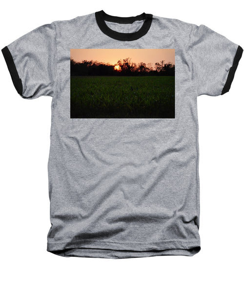 Sunset in the Evening - Baseball T-Shirt