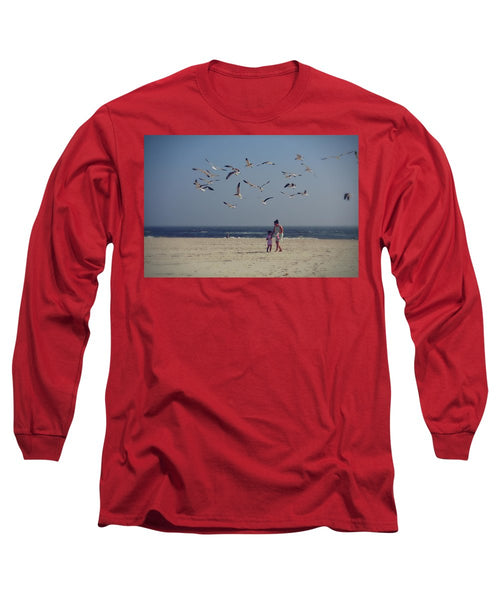 Walking On the Beach - Long Sleeve T-Shirt