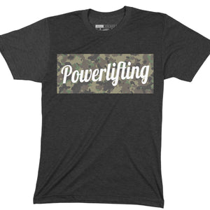 Powerlifting Camo Box Tee
