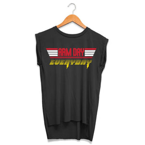 Arm Day Everyday Rolled Cuff Tank