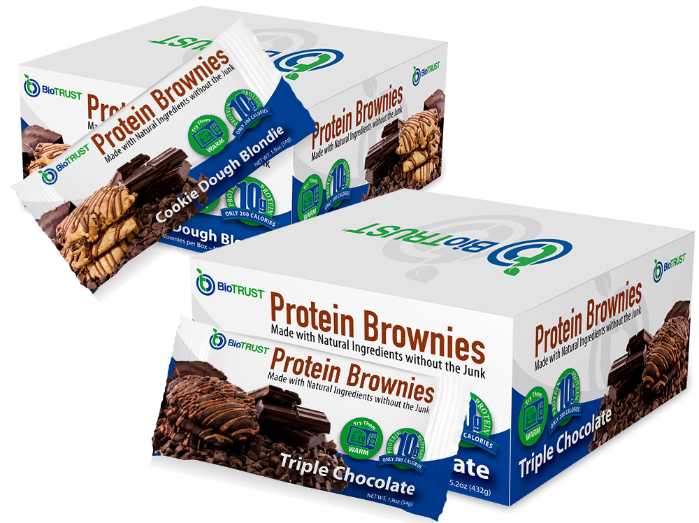 BioTRUST Protein Brownies full-size box