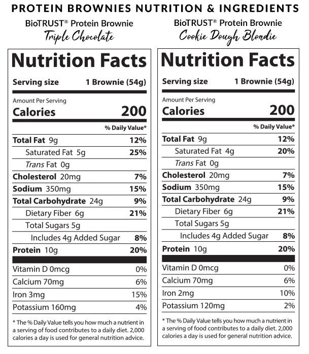 Protein Brownies Nutrition Facts