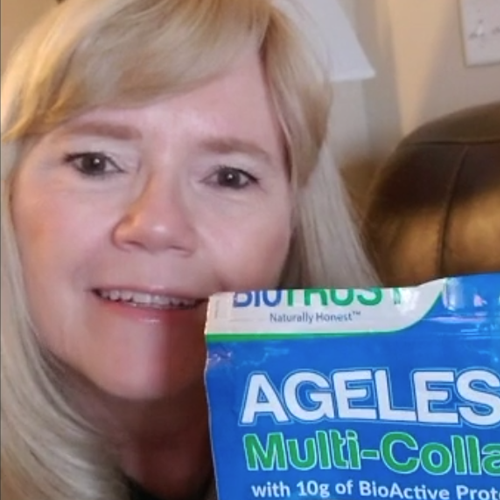 Customer using Ageless Multi-Collagen