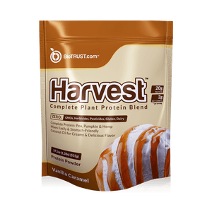 BioTrust Harvest- Vegan Protein Powder- Vanilla caramel