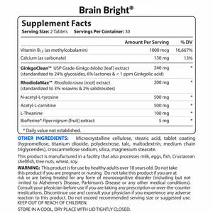Brain Bright® — Brain Support Supplement