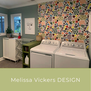 Laundry Room Wall Refresh - Melissa Vickers Design