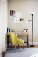 Small desk with a chair in a corner