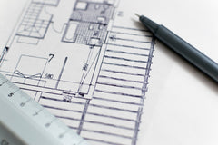 drawn architectural home plans with a pen