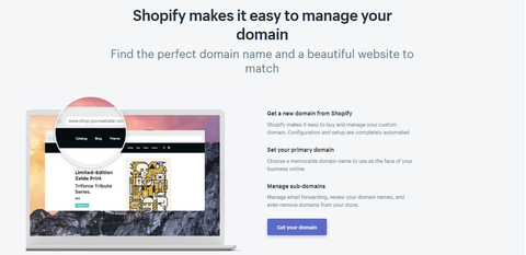 Domaine Shopify