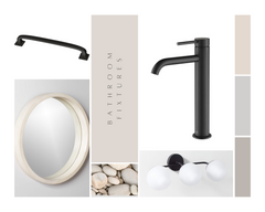 compilation of bath fixtures and lighting options by melissa vickers design