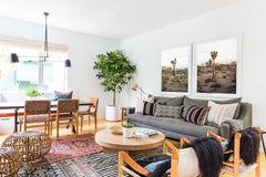 Living room showing 3 layered rugs