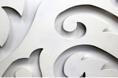 Close up of a curly type of stencil design