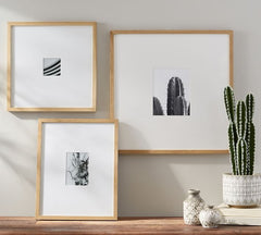 sideboard desert photos decoration in black and white