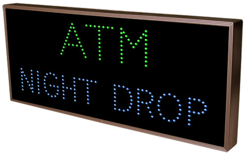 5180 (Tcl1426Gb-127) Atm | Night Drop Led Sign