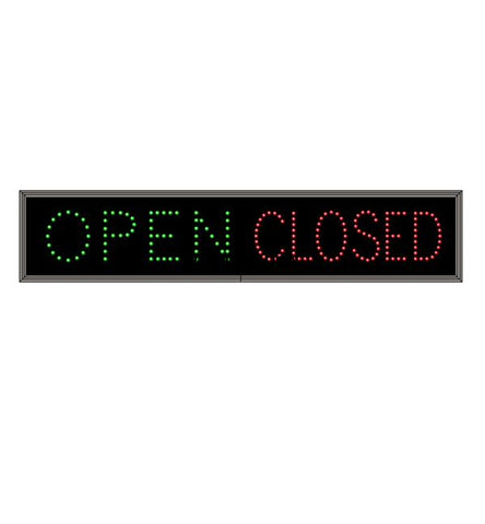 6083 (Tcl734Gr-100) Open | Closed Led Sign