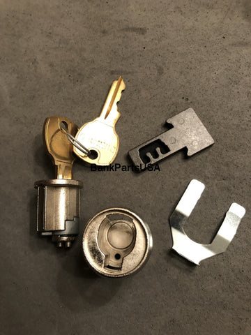Diebold Undercounter Lock And Key Core Assy #504 41-019209-504A