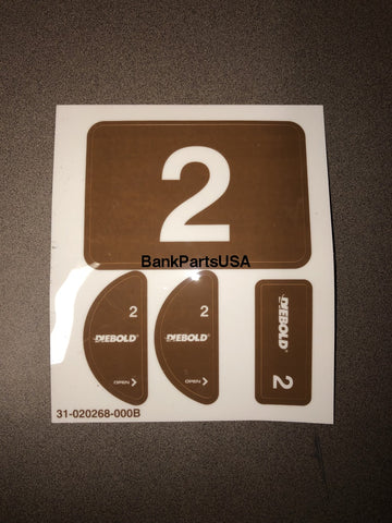 Diebold Vat Lane And Carrier Number Kit 31-020268-000B