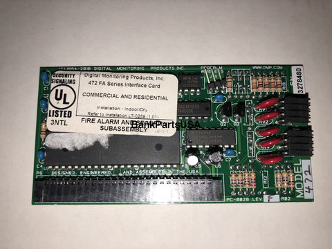 Dmp 472 Inovonics 900Mhz Interface Card