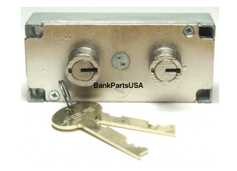 Lefebure 7737 Series Changeable Non-Handed Double 3/8 Nose Safe Deposit Lock Renters Key Included