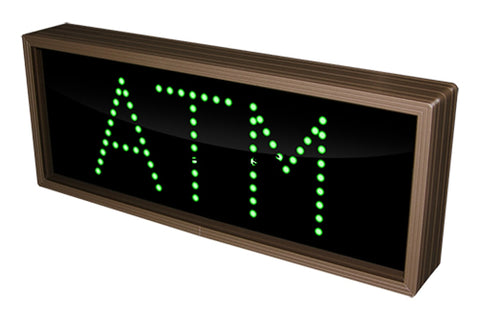 Signal Tech Atm Led Green Sign 7X14 New 714
