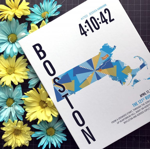 Boston Marathoner Art Print
