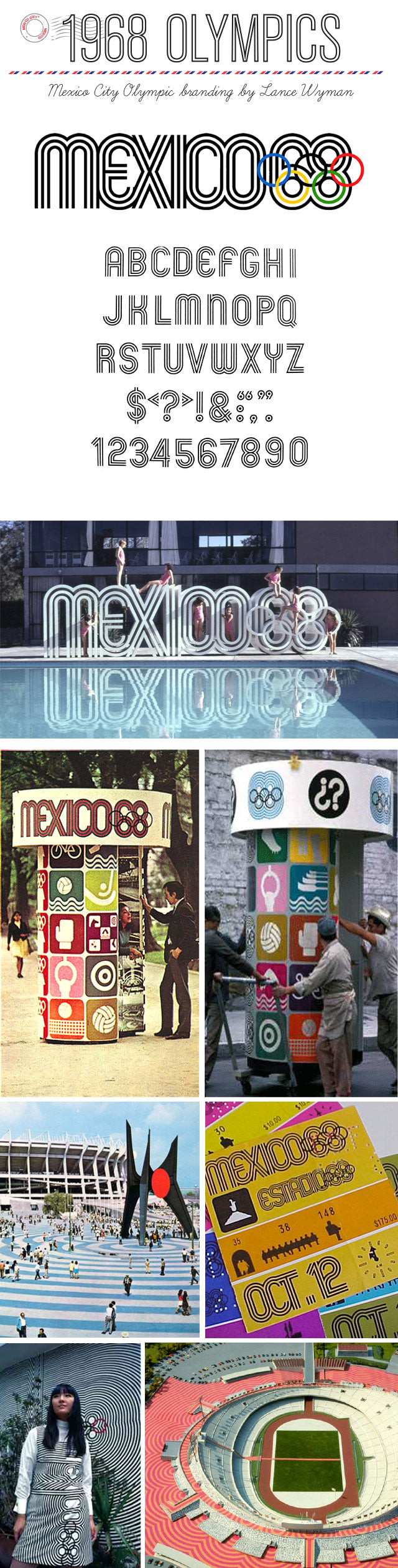 1968 mexico olympic branding graphic design