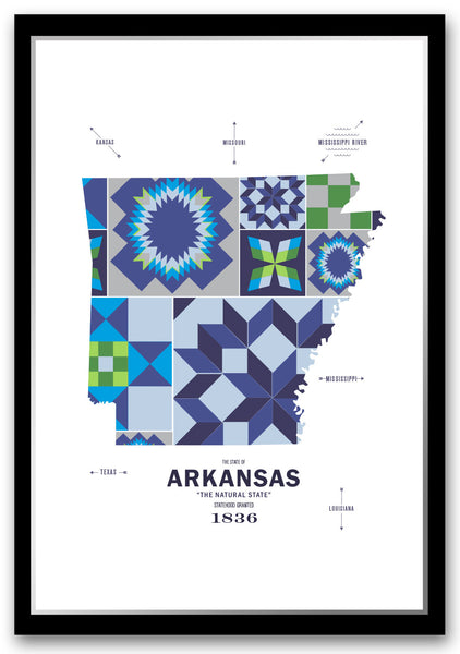 Personalized Arkansas Map Print Poster