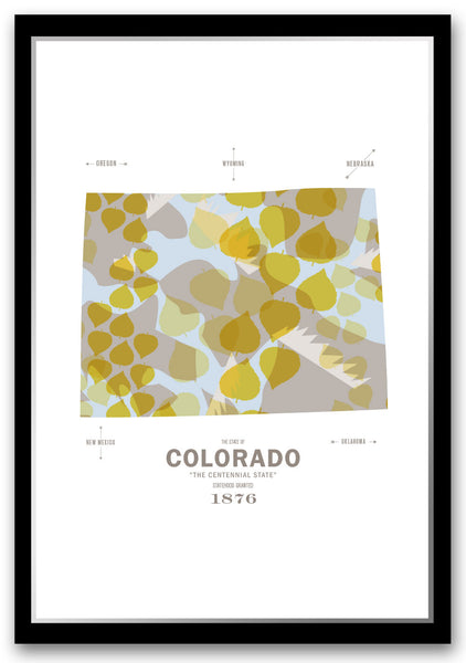 Personalized Colorado Map Print Poster
