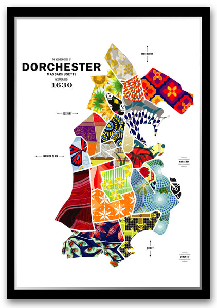 Personalized Dorchester, MA Map Print