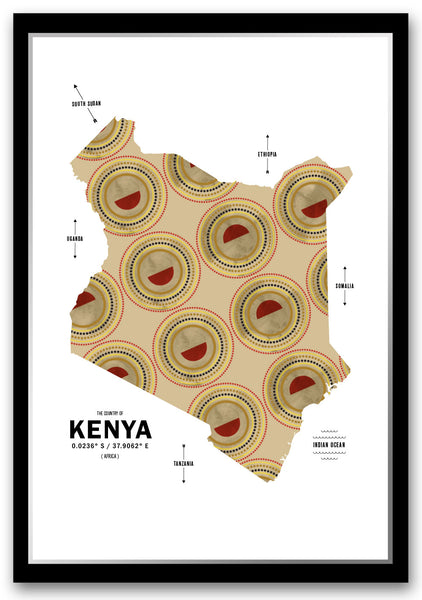 Personalized Kenya Map Print Poster