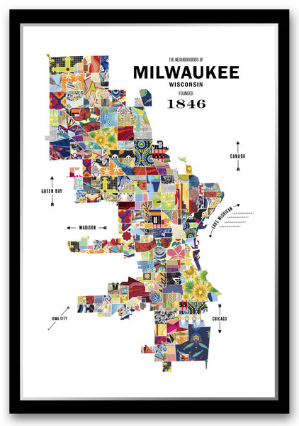 Milwaukee City Map Print