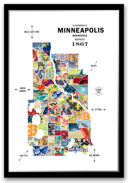 Personalized Minneapolis City Map Print