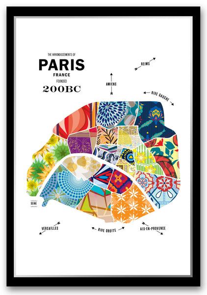 Personalized Paris, France City Map Print