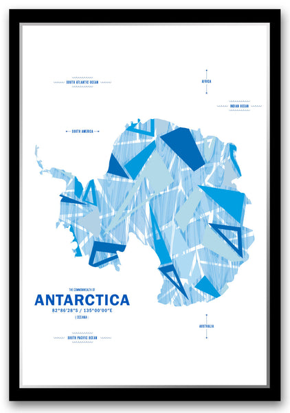 Personalized Antarctica Map Print Poster