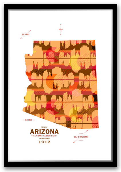 Arizona Map Print Poster